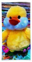 Cute Ducky Beach Sheet