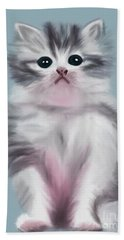 Cute Kitten Beach Towel