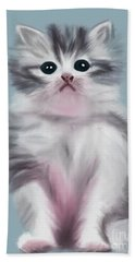 Cute Kitten Beach Towel