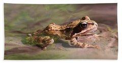 Cute Litte Creek Frog Beach Sheet