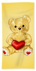 Cute Teddy Bear Hypnotist Beach Towel