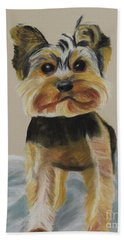 Cute Yorkie Beach Sheet