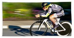 Cycling Prologue Beach Sheet by Kevin Desrosiers