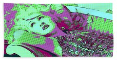 Cyndi Lauper Beach Towel