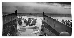 D-day Landing Beach Towel by War Is Hell Store