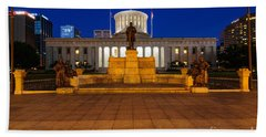 D13l112 Ohio Statehouse Photo Beach Sheet