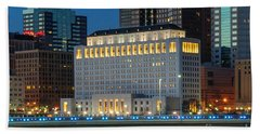 D2l496 Columbus Ohio Night Skyline  Beach Sheet