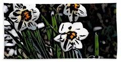 Beach Towel featuring the digital art Daffodil by David Lane