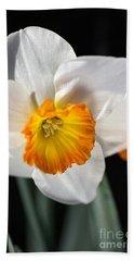 Daffodil In White Beach Sheet by Joy Watson