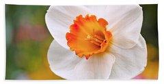 Daffodil  Beach Towel by Rona Black