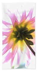 Dahlia Flower Beach Towel