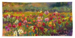 Dahlia Row Beach Towel