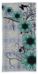 Daisies Design - S01-29c Beach Towel by Variance Collections