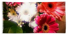 Daisy January Beach Towel by Meghan at FireBonnet Art