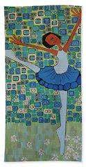 Daizies' Ballet Beach Towel