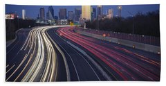 Dallas Afterglow Beach Towel by Rick Berk