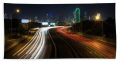 Dallas Night Light Beach Towel
