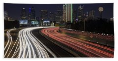 Dallas Night Beach Towel by Rick Berk
