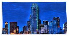 Dallas Skyline Hd Beach Towel