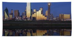 Dallas Twilight Beach Towel by Rick Berk