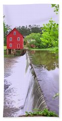 Dam At Starrs Mill Beach Towel by Gordon Elwell
