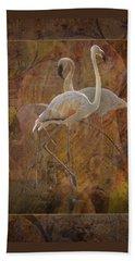 Dance Of The Flamingos Beach Towel