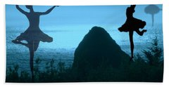 Beach Towel featuring the photograph Dance Of The Sea by Joyce Dickens