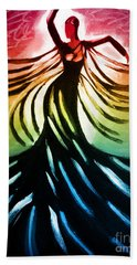 Dancer 3 Beach Towel by Anita Lewis