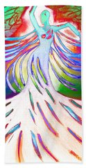 Dancer 4 Beach Towel by Anita Lewis
