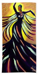 Dancer Beach Towel by Anita Lewis