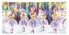 Dancers In The Forest II Beach Sheet by Kip DeVore
