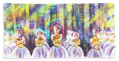 Dancers In The Forest Beach Sheet by Kip DeVore