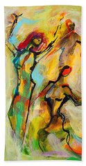 Dancers Beach Towel by Mary Schiros