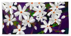 Dancing Coral Jasmines Beach Towel