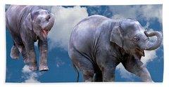 Dancing Elephants Beach Towel by Jean Noren