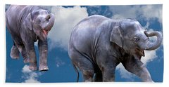 Dancing Elephants Beach Towel