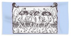 Dancing Fairies From 1896 Beach Towel by Phil Cardamone