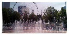 Dancing Fountains Beach Towel