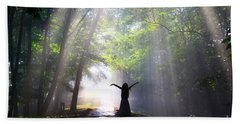 Dancing In God's Light Copyright Willadawn Photography Beach Towel