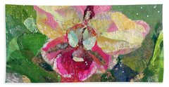 Dancing Orchid I Beach Sheet by Shadia Derbyshire