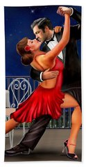 Dancing Under The Stars Beach Towel by Glenn Holbrook