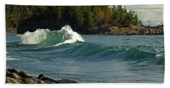Dancing Waves Beach Towel