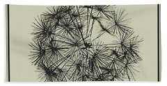 Beach Towel featuring the photograph Dandelion 6 by Kathy Barney