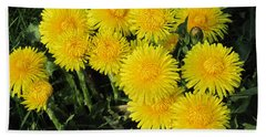 Golden Dandelions Beach Sheet