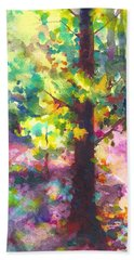 Dappled - Light Through Tree Canopy Beach Towel