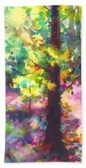 Dappled - Light Through Tree Canopy Beach Sheet