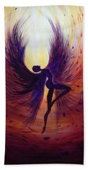 Dark Angel Beach Towel by Lilia D