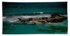 Beach Towel featuring the photograph Dark Sea by Victoria Harrington
