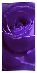 Dark Secrets Purple Rose Beach Towel by Jennie Marie Schell