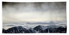 Beach Sheet featuring the photograph Dark Storm Cloud Mist  by Barbara Chichester